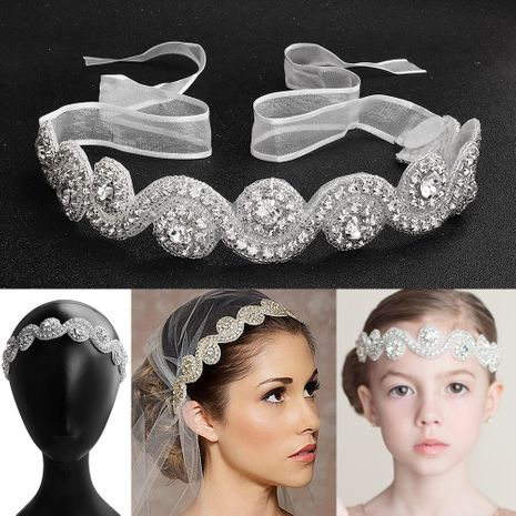 hot-saling hairband handmade flowers diamond bridal jewelry NHHS256421's discount tags