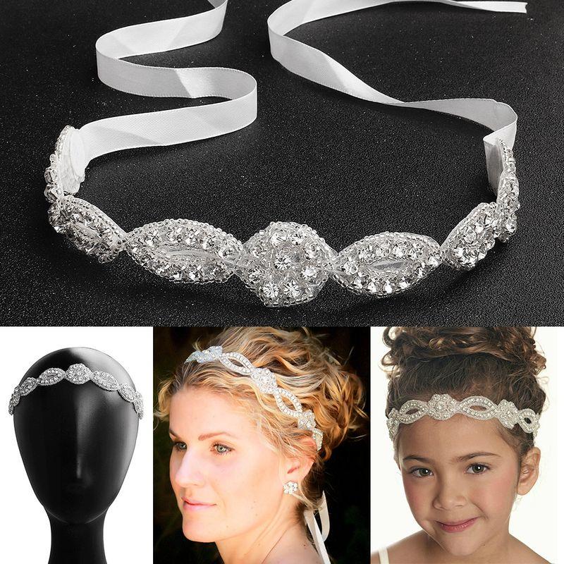 Korean beautiful bride simple wild beaded wedding dress accessories flower girls headdress NHHS256420