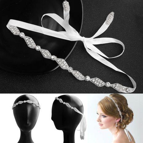 Vague à la main applique coiffure pour enfants ornée de diamants accessoires de mariage de mariée bandeau front sauvage NHHS256422's discount tags