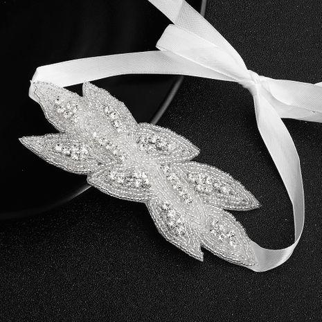 Bijoux en strass perlés sauvages coiffe de mariage mariée tissée à la main en gros NHHS256424's discount tags