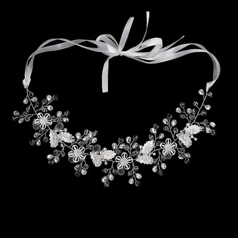 Fashion crystal wedding jewelry hollow flower handmade headdress bridal headband NHHS256429's discount tags