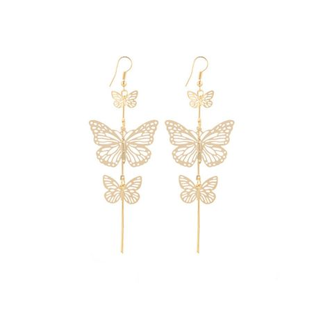 fashion punk  exaggerated hollow butterfly earrings NHPJ256437's discount tags