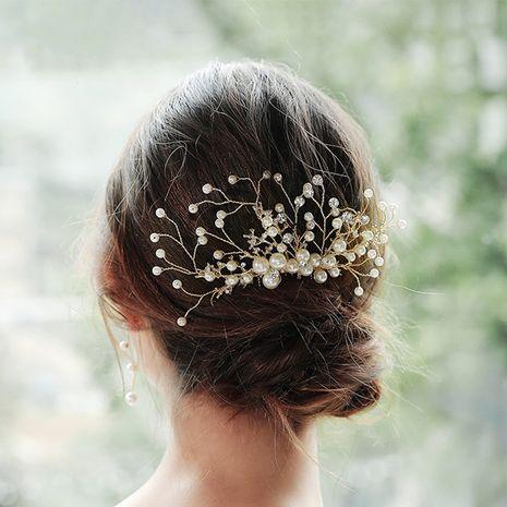 Mode perle strass peigne inséré à la main alliage fleur cheveux robe de mariée accessoires NHHS255946's discount tags