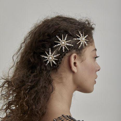Vente chaude rétro fleur créative perle épingle à cheveux frange clip en gros NHRN256475's discount tags