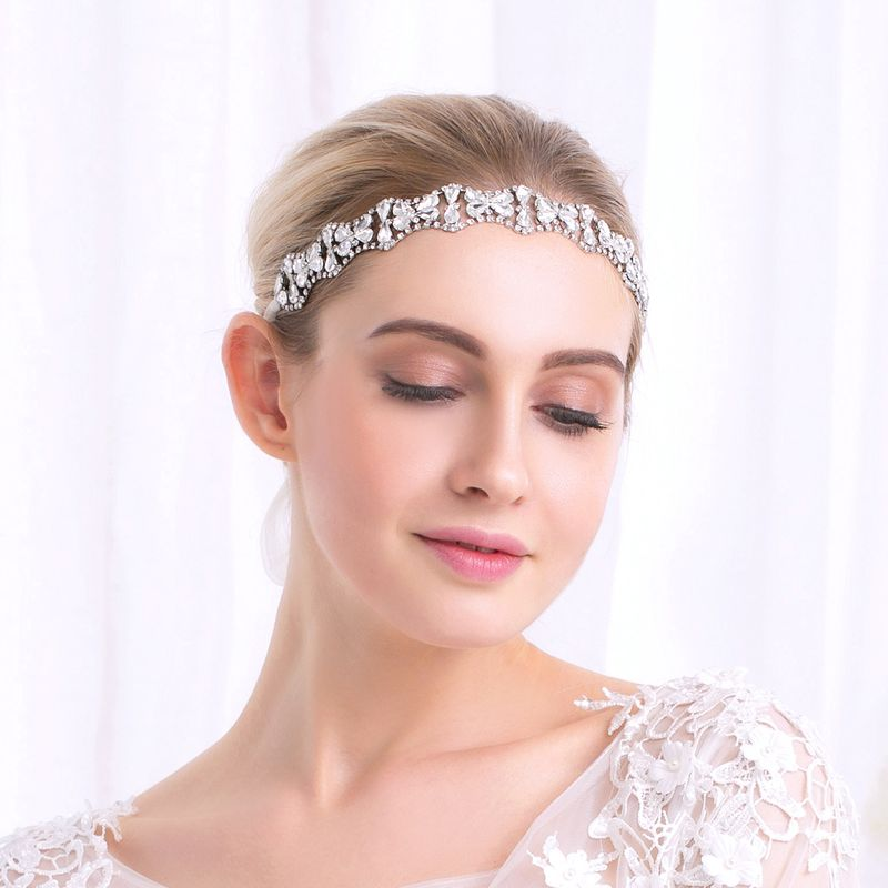 Fashion simple bridal jewelry diamond wedding accessories bridesmaid headband NHHS256505