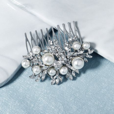 Fashion retro rhinestone insert comb size pearl personality plate hair comb accessories NHHS256507's discount tags