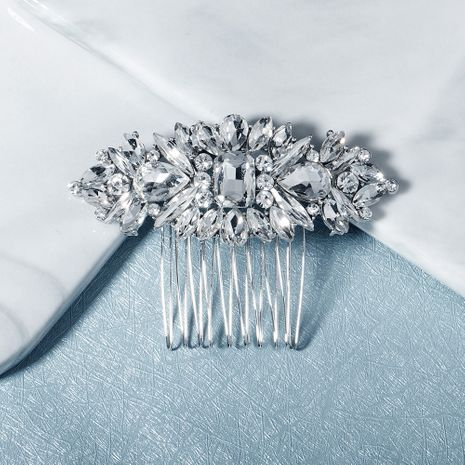Retro ethnic rhinestone insert comb high-end alloy hair comb  NHHS256510's discount tags