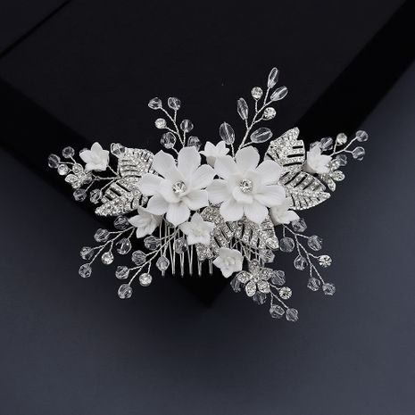 Fashion rhinestone flowers inserted comb wholesale NHHS256513's discount tags