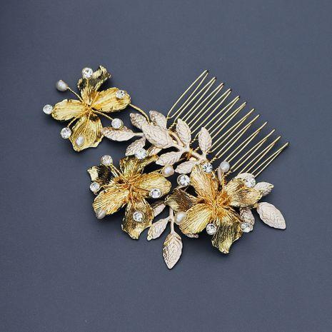 Temperament beautiful insert comb elegant retro golden hair comb NHHS256514's discount tags