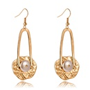fashion new hot sale specialshaped pearl long metal tassel earring wholesale  NHAN256519