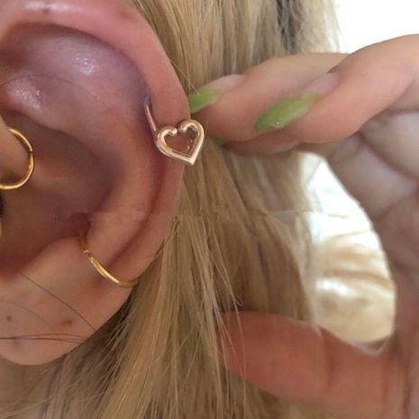 Corée simple petite épingle d'amour oreille oreille boucles d'oreilles en gros NHYQ256539's discount tags