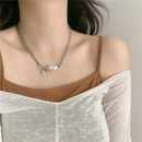 Baroque shaped pearl long copper chain retro clavicle chain simple palace style necklace for women NHYQ256549