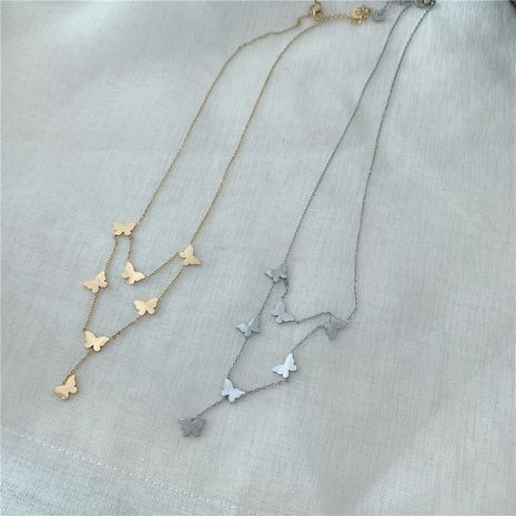 Korea fairy wild hollow butterfly pearl necklace  NHYQ256554's discount tags