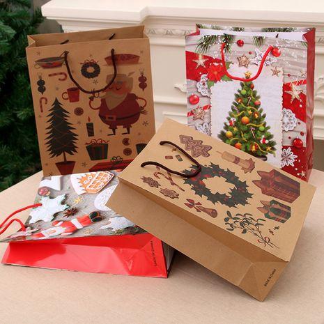 Sac fourre-tout cadeau de Noël Sac en papier kraft Sac d'emballage de Noël en gros NHMV256561's discount tags