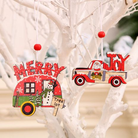 New Christmas Painted Wooden Small Pendant Christmas Ornaments NHMV256582's discount tags