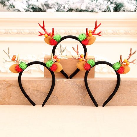 Christmas antler head buckle Christmas head buckle headband NHMV256588's discount tags
