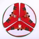 Christmas tree skirt decoration supplies red tree skirt flannel wholesale NHMV256589
