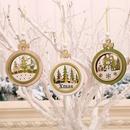 hollow wooden threedimensional Christmas tree pendant decoration supplies  NHMV256594