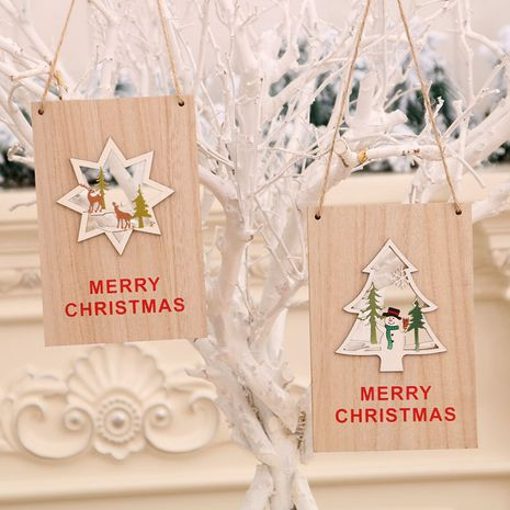 Christmas wooden door hanging mall Christmas welcome sign Christmas decorations NHMV256596's discount tags