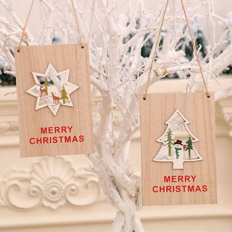 Porte en bois de Noël suspendu centre commercial signe de bienvenue de Noël décorations de Noël NHMV256596's discount tags