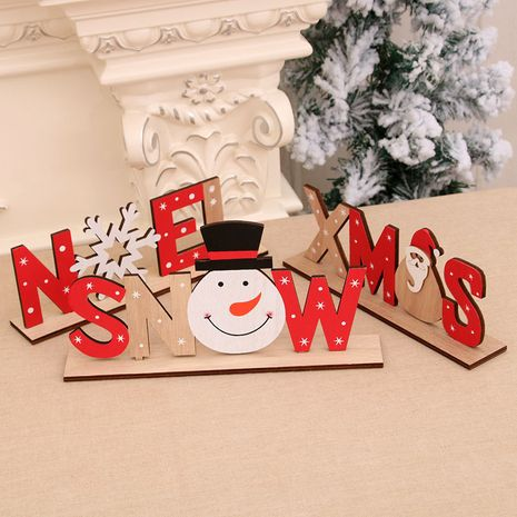 Christmas wooden painted letter card ornaments Christmas decoration  NHMV256600's discount tags