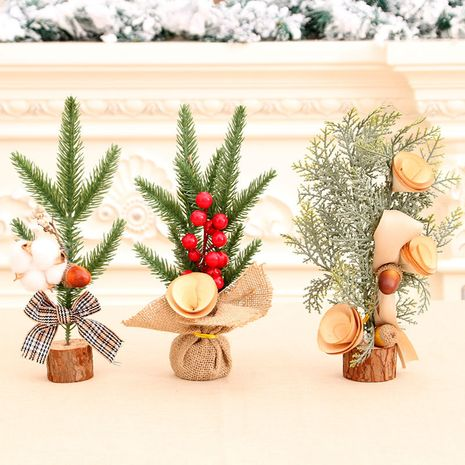 25cm Christmas Mini Tree Decoration Desktop Potted Christmas Tree wholesale NHMV256601's discount tags