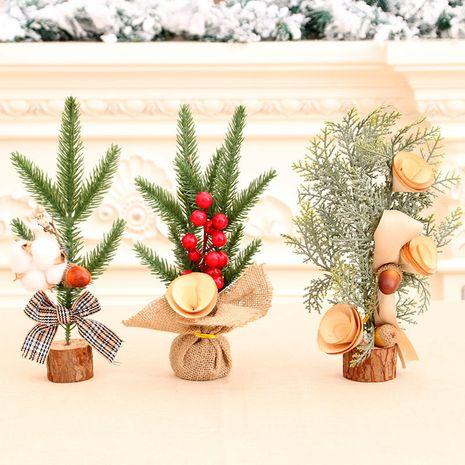 25cm mini arbre de Noël décoration de bureau arbre de Noël en pot en gros NHMV256601's discount tags