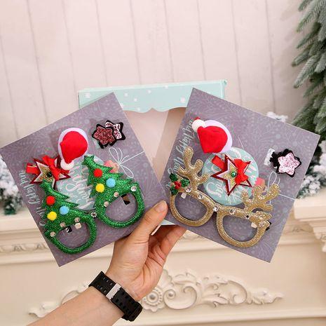 Nouveaux ornements de Noël épingles à cheveux lunettes coffrets cadeaux de Noël NHMV256607's discount tags
