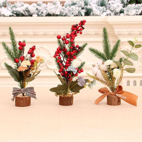 Nouveau bureau de bureau de décoration d'arbre de Noël mis en place mise en page de scène de Noël en gros NHMV256609's discount tags