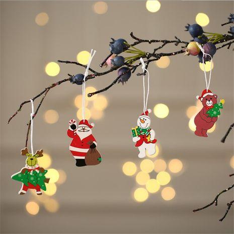 Boîte de 12 pièces de petits pendentifs en bois colorés pour Noël NHMV256616's discount tags