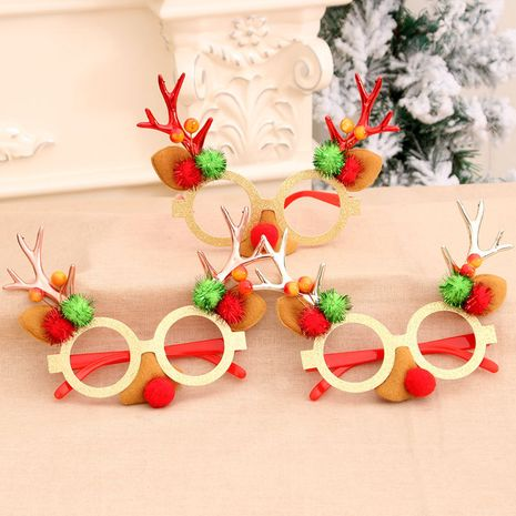 Christmas Glasses Decoration Children Gifts Antler Glasses wholesale NHMV256617's discount tags