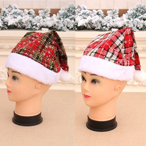 Nouveau chapeau de Noël épaississement qualité super bon chapeau de Noël à bord en peluche court NHMV256620's discount tags
