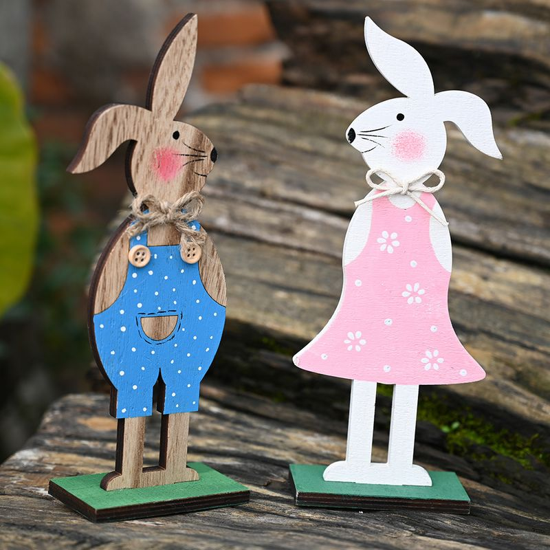Wooden Bunny Decoration Festive Supplies Creative Bunny Decoration  NHHB256632