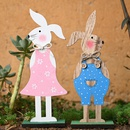 Wooden Bunny Decoration Festive Supplies Creative Bunny Decoration  NHHB256632