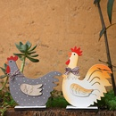 Supplies Wooden Rooster Easter Desktop Decoration Wholesale NHHB256633
