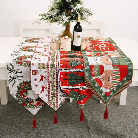 New Christmas decoration knitted cloth table runner creative Christmas table decoration NHHB256638's discount tags