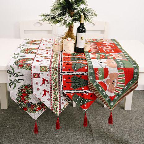 Nouvelle décoration de Noël chemin de table en tissu tricoté décoration de table de Noël créative NHHB256638's discount tags