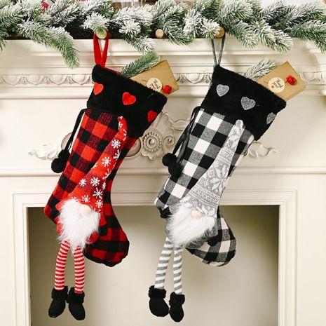 Noël rouge amour duvet suspendus jambes treillis chaussettes de Noël décoration créative NHHB256641's discount tags