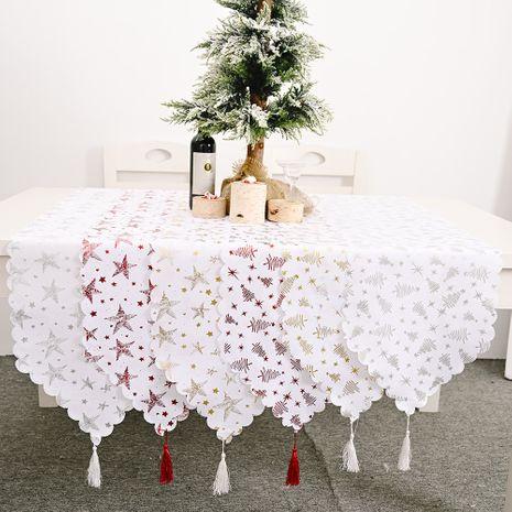 Décorations de Noël chemin de table blanc bronzant nouveau chemin de table créatif nappe bronzante NHHB256645's discount tags
