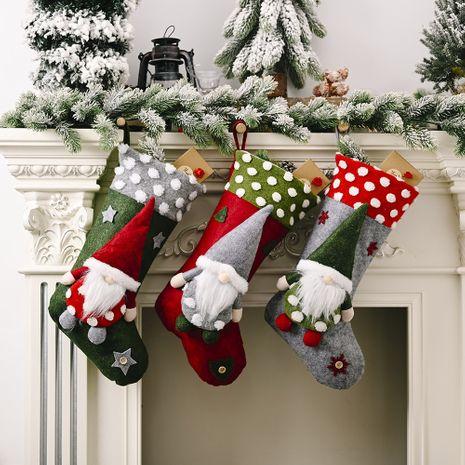 Christmas Ornaments Forest Elderly Lamb Christmas Socks Faceless Doll Christmas Socks Gift Bag Wholesale NHHB256646's discount tags