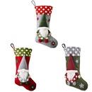 Christmas Ornaments Forest Elderly Lamb Christmas Socks Faceless Doll Christmas Socks Gift Bag Wholesale NHHB256646