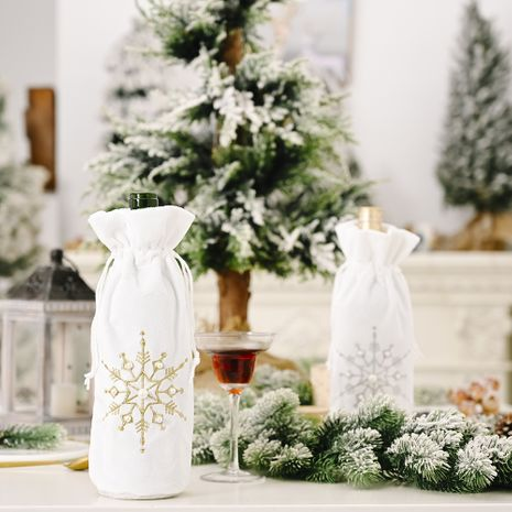 Décoration de Noël perles flocon de neige sac de bouteille de vin en gros NHHB256647's discount tags