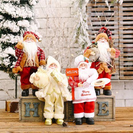 Décoration de fête de Noël posture debout poupée du père Noël NHHB256649's discount tags
