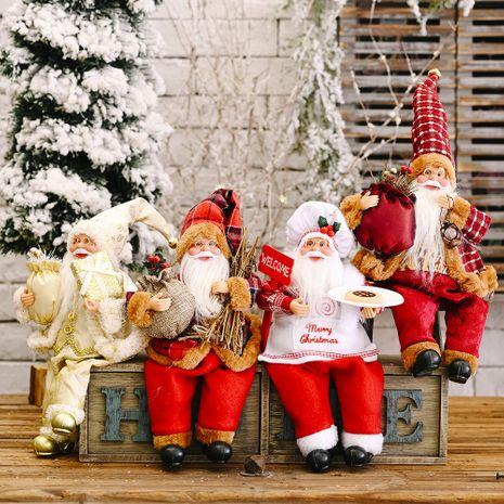 Ornements de Noël pose debout Ornements de poupée du père Noël NHHB256650's discount tags