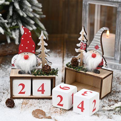 Noël en bois de cône de pin calendrier vieil homme ornements calendrier en bois ornements de compte à rebours NHHB256651's discount tags