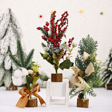 Noël Mini arbre de Noël créatif nouveau bureau décoration arbre arbre de Noël habiller NHHB256652's discount tags