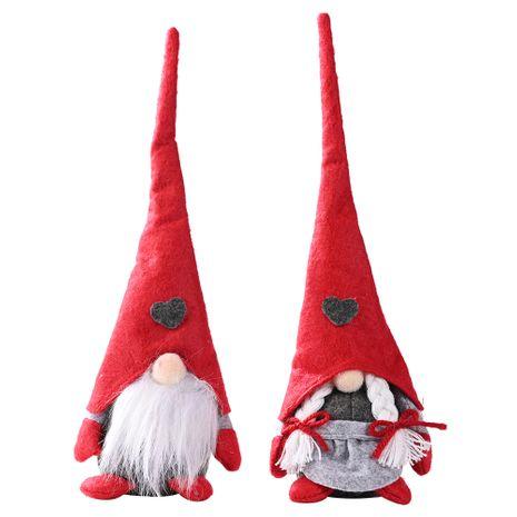 Ornements de Noël pour les personnes âgées dans la forêt amour poupée debout petite poupée ornements de poupée sans visage NHHB256653's discount tags