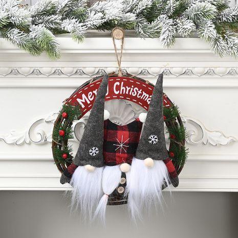 Nouveau pendentif couronne de poupée de forêt d'ornements de Noël NHHB256660's discount tags