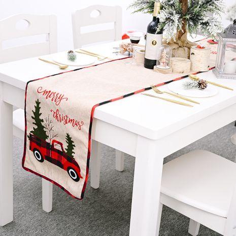 Décorations de Noël Napperon de table à manger chemin de table arbre de Noël NHHB256661's discount tags