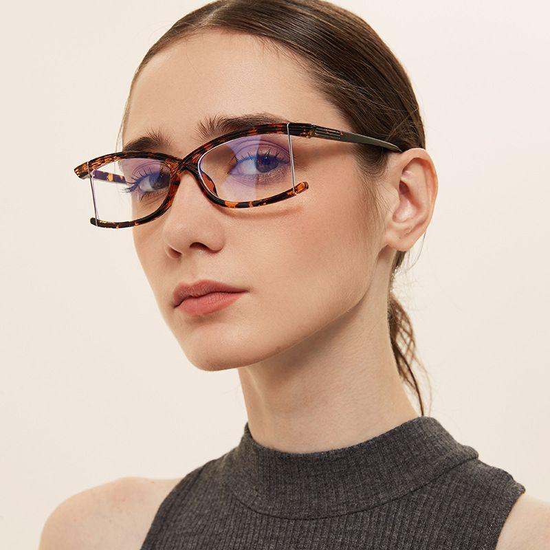 fashion borderless anti-blue light flat mirror square new retro glasses  NHXU256723